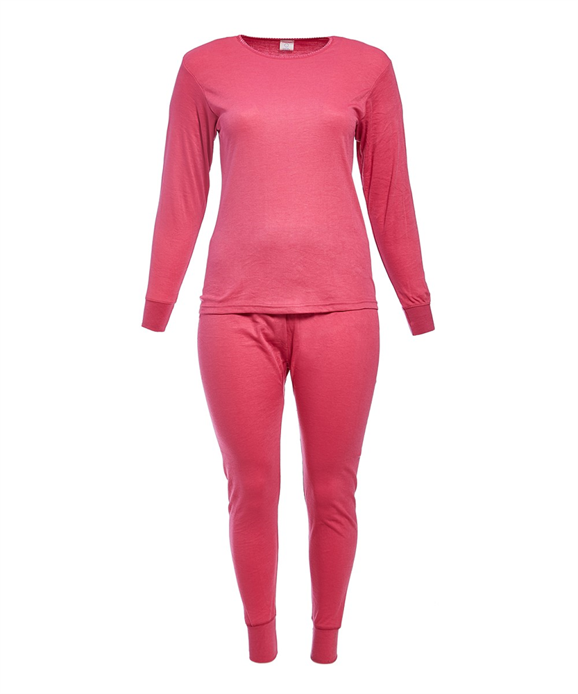 Ladies Mighty Hugs Smooth Knit Thermal Sets, Assorted Colors and Sizes - Single Pack