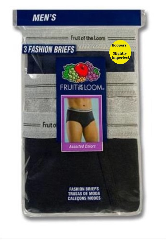 Fruit of The Loom Men's Colored Briefs - 3 pack