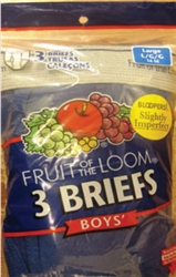 Fruit of The Loom Boy's Colored Briefs - 3 Pack
