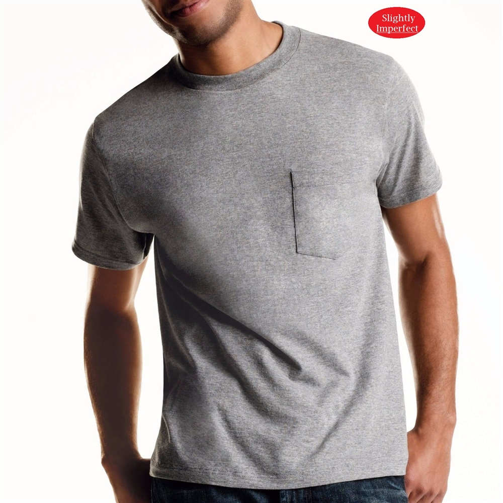Men's Hanes Colored Pocket Tees - 4 Pack