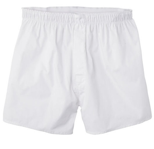Mens White Boxer Shorts - 3 Pack