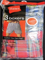 Hanes Mens 3 Pack Boxer Shorts - 12 packs