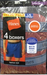 Hanes Men's Boxer Shorts - 4 pack