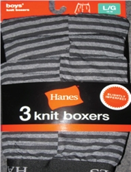 Boy's Hanes Color Boxer Shorts - 3 Pack