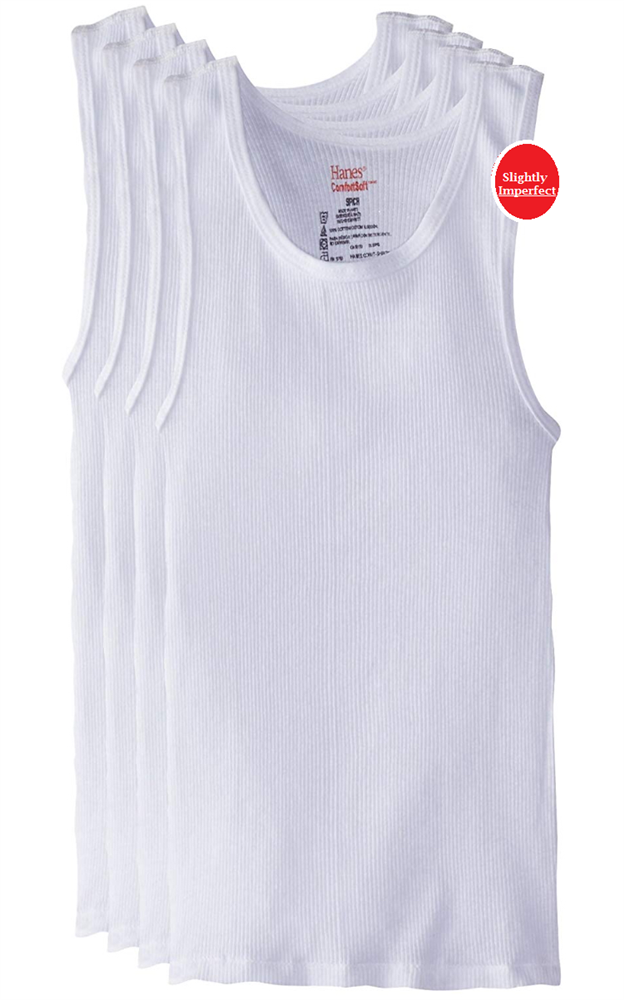 Boy's Hanes White A-Shirts - 3 Pack