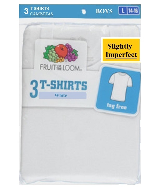 Boy's White Frruit of The Loom T-Shirts - 3 Pack