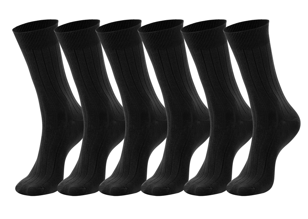 Men's Black Cotton Dress Socks sz. 10-13 - Single Pack