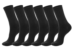 Men's Black Lycra Ribbed Dress Socks