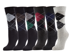 Elegant Design Dress Socks, 3 Pair Asst Colors