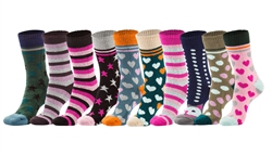 Ladies Ultra Heavy Weight Cushioned Winter Socks, 1 pk