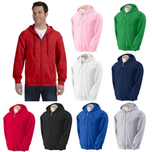 Men's Assorted Colors Hoodies W/Zippers, Assorted Sizes