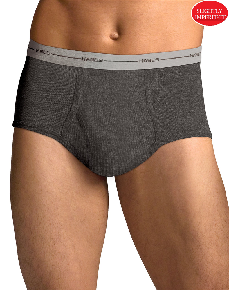Men's Hanes Colored Briefs S-2X - 4 Pack