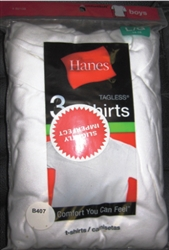 Boy's White Hanes T-Shirts - 3 Pack
