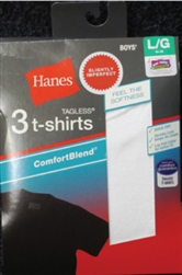 Boy's Hanes White T-Shirts - 3 Pack