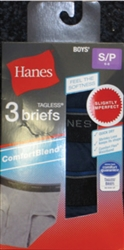 Boy's Hanes Color Briefs - 3 Pack