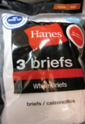 Boy's Hanes White Briefs - 6 Pack