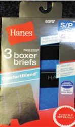 Boy's Hanes Boxer Briefs - 3 Pack