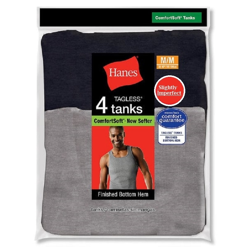 Hanes Men's Colored A-Shirts - 4 Pack