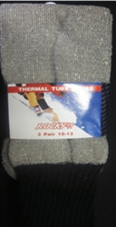 Men's 3 Pack Grey Thermal  Tube Socks Sz 10-13