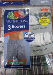 Men's Fruit of The Loom Printed Boxer Shorts S-3X - 3 pack