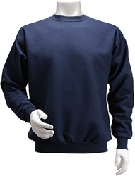 Men's Fleece Crew Neck Sweatshirt Pullover Shirt-24 Pieces